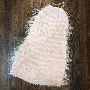 NWT H&M Fringe Halter Cocktail Dress